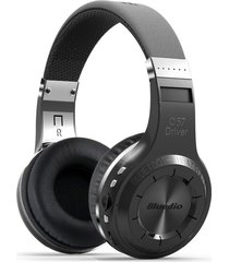 audifonos bluetooth, h plus bluedio auriculares inalámbricos estéreo audifonos bluetooth manos libres  v4.1 auriculares con radio fm tf ranura para tarjeta construido en micrófonos (negro)