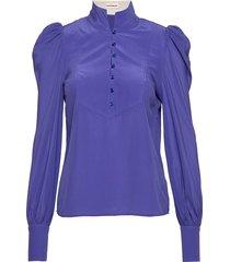 peline blouse lange mouwen paars custommade