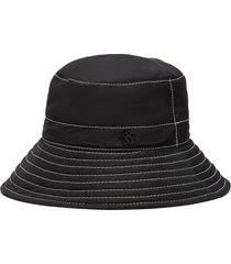 'charlotte' topstitched nylon bucket hat