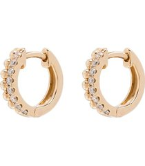 dana rebecca designs 14kt gold poppy rae diamond huggie earrings -