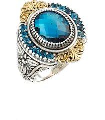 konstantino 'thalassa' topaz ring, size 7 in silver/gold/blue topaz at nordstrom