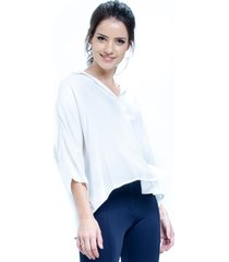 camisa 101 resort wear poncho viscose off