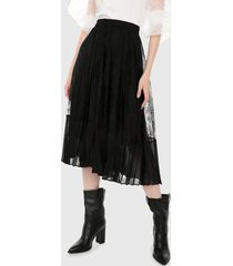 falda negro mng