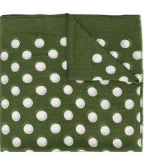 altea polka dot lightweight scarf - green