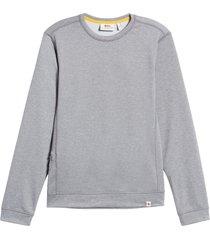 men's fjallraven high coast lite sweatshirt, size small - grey