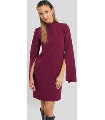 trendyol cape sleeve mini dress - purple