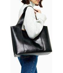 taylor black slouchy tote bag - black