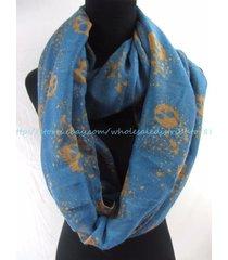 us seller- fall winter gothic skull infinity scarf infinity loop scarf circular