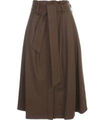parosh pleated skirt w/belt