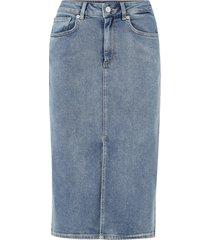 jeanskjol slflana hw hush blue denim skirt ex