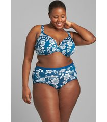 lane bryant women's no-show full brief panty 34/36 heritage floral