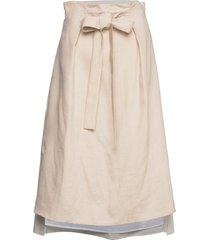 celine knälång kjol creme max&co.
