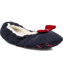 tommy round travel pack slippers tofflor blå tommy hilfiger