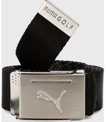 cinturón negro-plateado puma golf