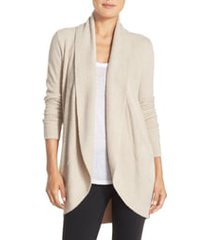 women's barefoot dreams cozychic(tm) lite circle cardigan, size medium - beige