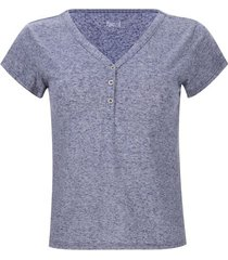 camiseta mujer jaspe color azul, talla 10