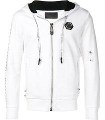philipp plein scarface print hoodie - white
