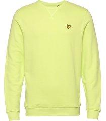 crew neck sweatshirt sweat-shirt trui geel lyle & scott