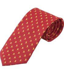 corbata rana dorada - rojo prietto & co