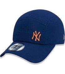 boné new era mlb new york yankees runner performance mini logo aba curva