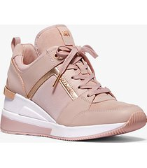 mk sneaker georgie in pelle e tela - rosa tenue (rosa) - michael kors