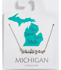 maurices womens dainty michigan necklace gray