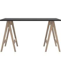 mesa de escritório multiuso 135cm grafite/carvalho dalla costa