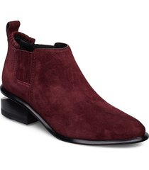 kori burgundy suede/rd shoes boots ankle boots ankle boot - heel röd alexander wang
