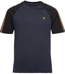 colour block t-shirt t-shirts short-sleeved blå lyle & scott