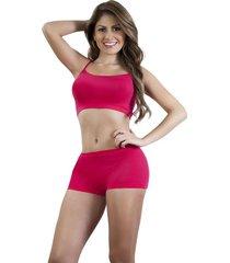 conjunto top y panty italiana rojo
