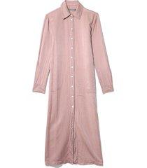 silk cotton sateen tunic dress in blush