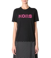 michael michael kors t-shirt with studded logo