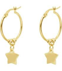 orecchini a cerchio con stella per donna