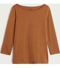 maglia con scollo a barchetta in cotone supima® ultrafresh
