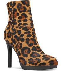 nine west querida platform booties women's shoes