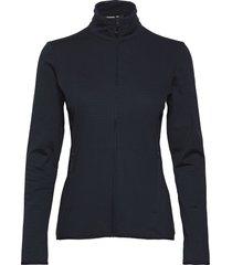 outrack full zip midlayer night sky sweat-shirts & hoodies fleeces & midlayers blå salomon