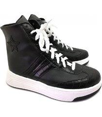 zapatilla negra abryl calzados star