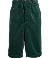 comme des garçons shirt elasticated bermuda shorts - green