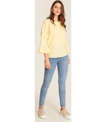 blusa amarilla manga amplia amarillo xxl