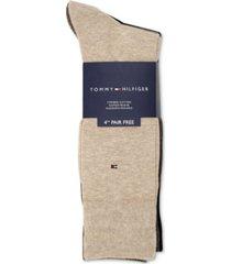 tommy hilfiger men's 4-pack flat-knit dress socks