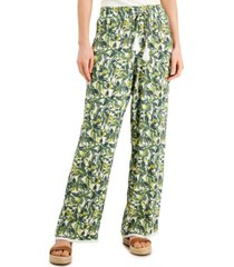 inc printed drawstring-waist pants, created for macy's