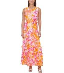 calvin klein tie-dyed maxi dress