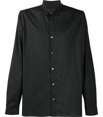 ann demeulemeester pointed-collar shirt - black