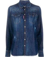 crystal-embellished shirt