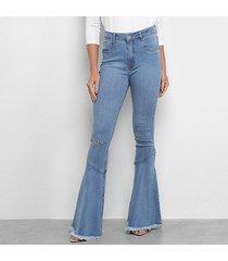 calça jeans my favorite thing (s) super high flare feminina