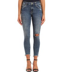 women's mavi jeans alissa ripped destroyed hem skinny jeans