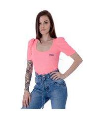 top cropped feminino operarock pink