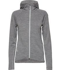 w's wooler houdi sweat-shirts & hoodies mid layer jackets grijs houdini