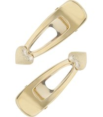 ettika set of 2 heart hair clips in gold at nordstrom
