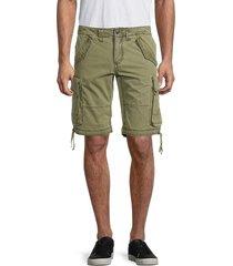 zadig & voltaire men's pidji dyed cotton-blend cargo shorts - khaki - size 42